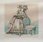 Vintage Français Femme Imprimé Sur Panneau En Tissu Faire Un Coussin Tapisserie