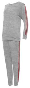 New Ladies Casual Side Stripe Tracksuit Pants Sweats Two Piece Set Lounge Suit