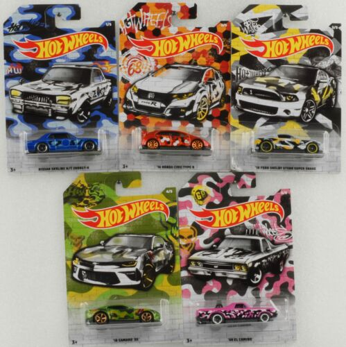 Urban camuflaje set 5 cars honda nissan ford Chevy 1:64 Hot Wheels gdg44