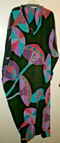 Vintage Silkscapes Silk? Sleeveless Kimono - One S