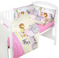 BABY BEDDING SET 120x90 COT QUILT DUVET PILLOW CASE COVER NURSERY BED NEW DESIGN
