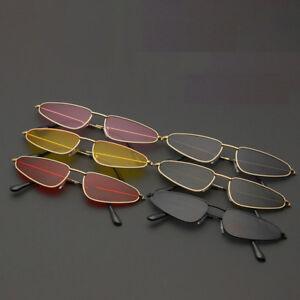UV400-Eyewear-Frame-Sunglasses-Cat-Eye-Women-Fashion-Retro-Flat-Small-Vintage