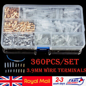360x Car Auto Motorcycle Terminal 3.9mm Male Female Wire Bullet Crimp Connectors