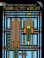 ADULT COLORING BOOK ~ FRANK LLOYD WRIGHT STAINED GLASS WINDOWS ~REMOVEABLE PAGES