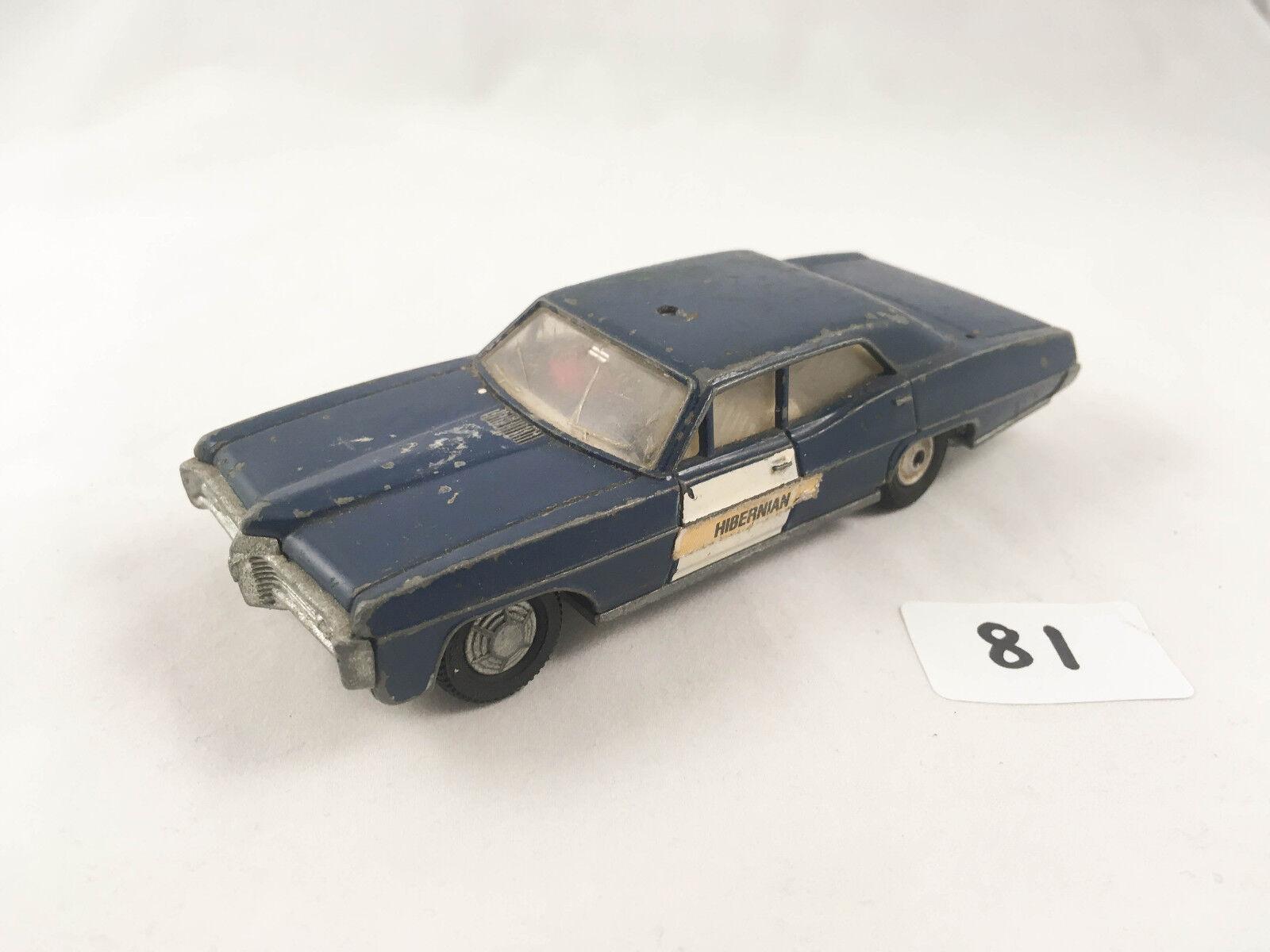 RARE VINTAGE DINKY TOYS PONTIAC PARISIENNE RCMP POLICE CAR DIECAST 1970