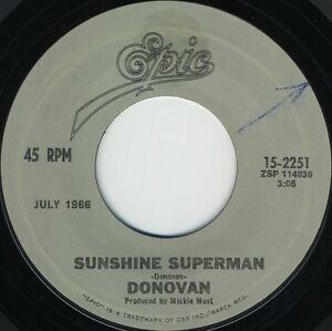 DONOVAN-Sunshine-Superman-b-w-Mellow-Yellow-Reissued-U-S-7inch