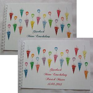 Geschenk-Schulanfang-Einschulung-1-Schultag-Gaestebuch-Zuckertueten-Schultueten