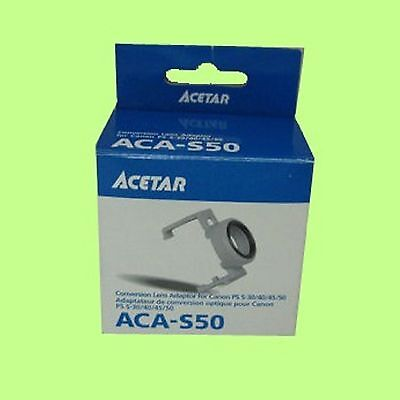 Acetar ACA-S50 Conversion Lens Adapter 30.5mm for Canon PS S50 S45 S40 S30