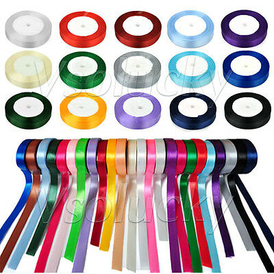 "1 Roll 25 Yards 5/8"" (15mm) Satin Ribbon Bow Wedding Party Xmas Craft Decoration"