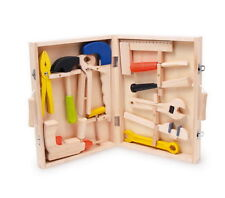 TOOLS Top Quality Childrens Wooden Toolbox diy builder drill spanner hammer saw