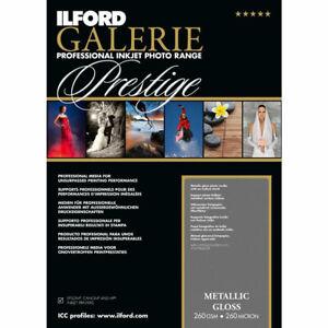 Ilford GALERIE Prestige Metallic Gloss DIN A4, 25 Blatt, GPMG, 260 g/qm