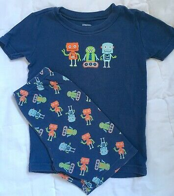 NWT Gymboree Gymmies Blue Robot Lab Pajamas 12-18m 3 5 2T