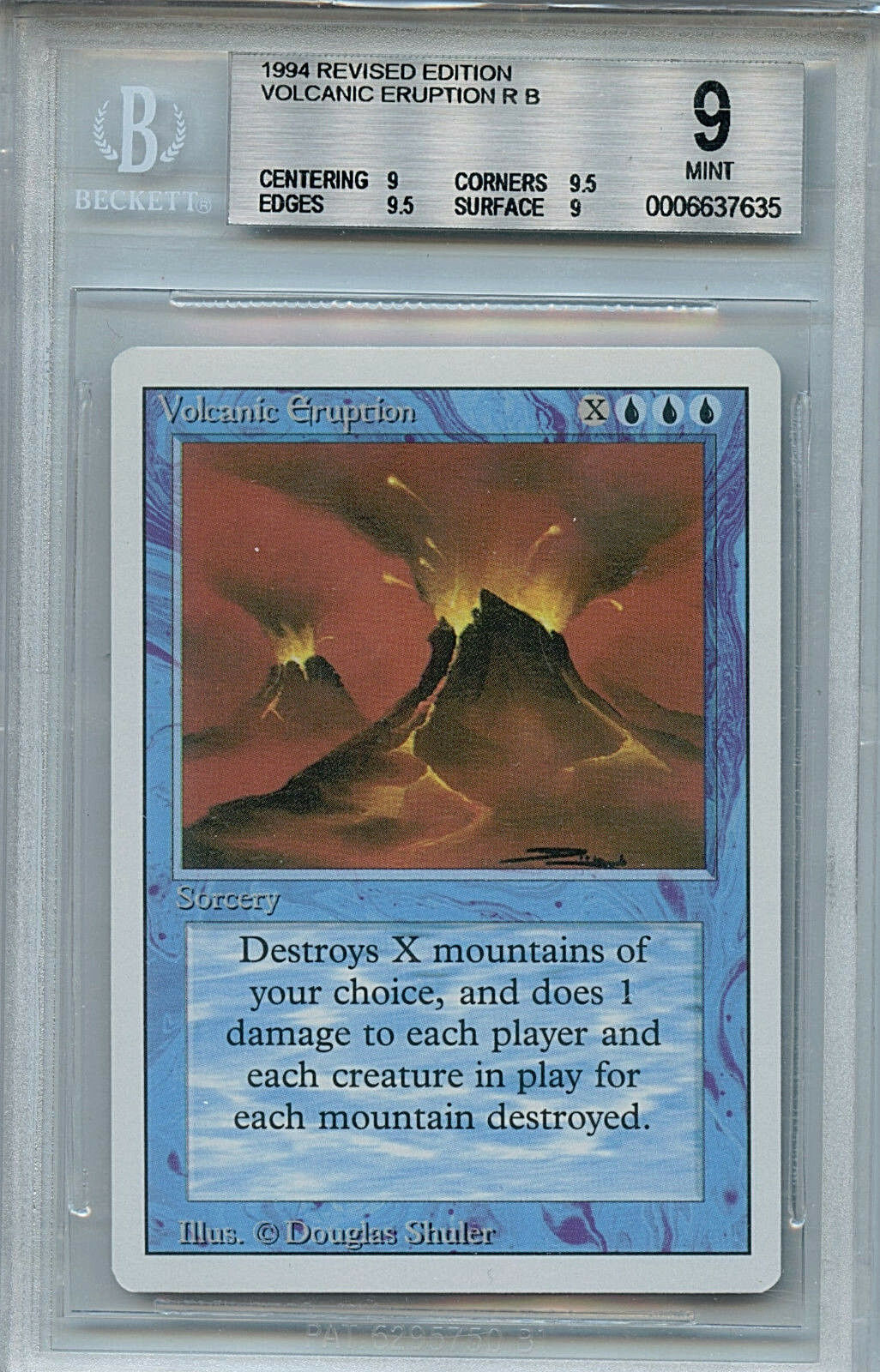 MTG Revised Volcanic Eruption BGS 9.0 (9) Mint Magic The Gathering WOTC 7635