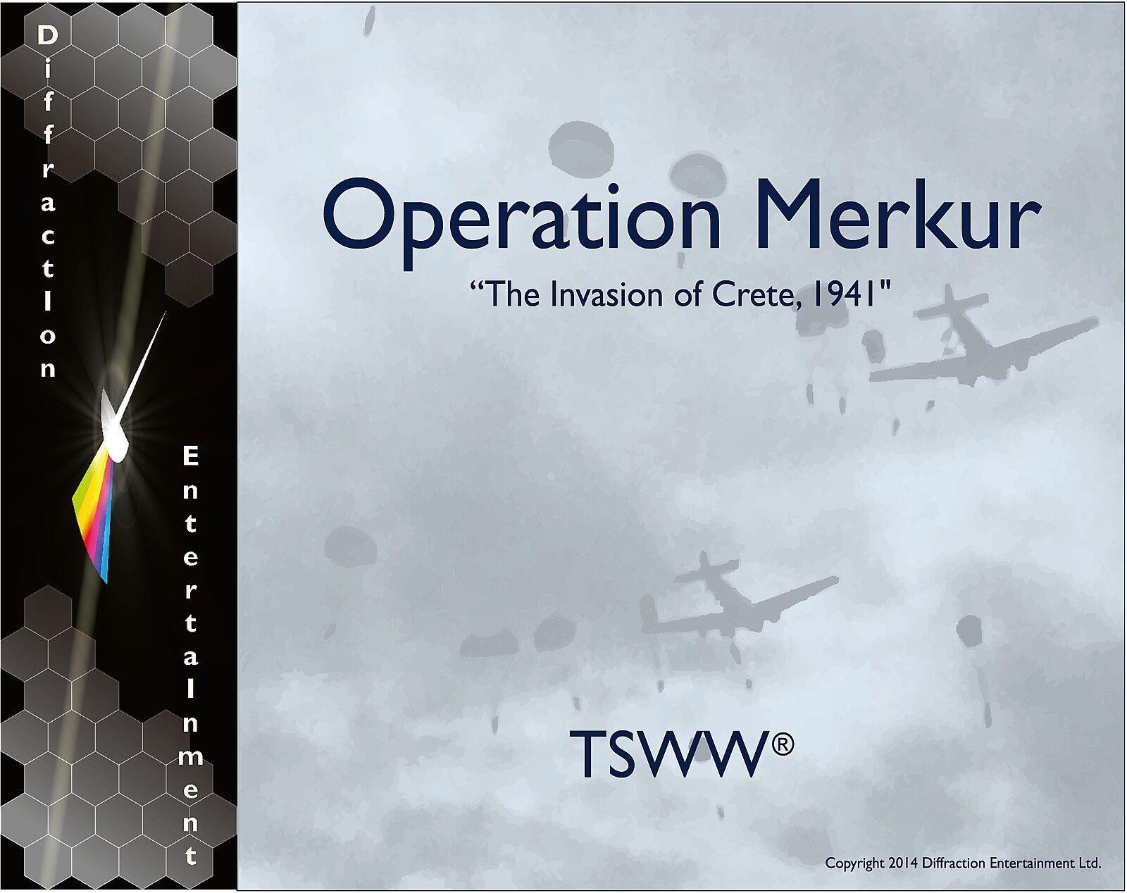 De TSWW série opération Merkur Invasion de Crète 1941 livraison gratuite