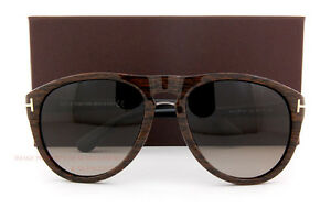 14822b2edf Brand New Tom Ford Sunglasses TF 0347 347 Kurt 05K Woodgrain Brown ...