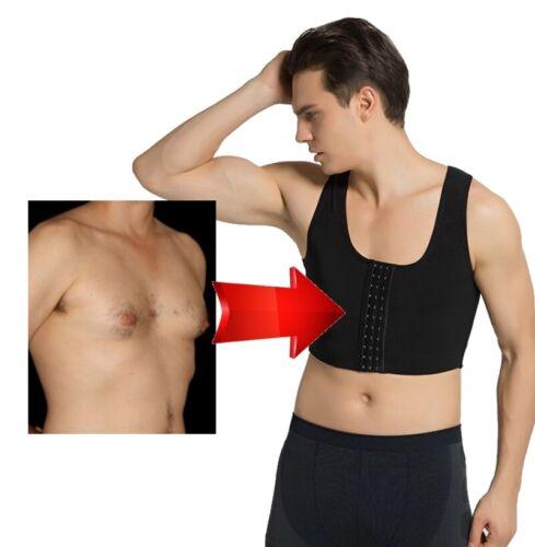 Gynecomastia Vest Man Boobs Shaper Male Bra Chest Binder Compression Vest Gyno