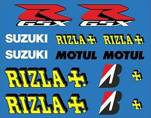 Motorbike Rizla Set Exterior Vinyl Decals X Motul GSX R - Motorcycle stickersmotorcycle stickers ebay