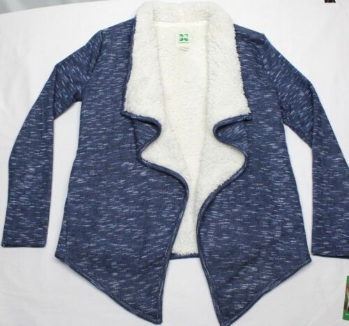 GREEN TEA WOMEN/'S HEATHER SHERPA WATERFALL WRAP CARDIGAN VARIETY SIZE//COLOR NWT