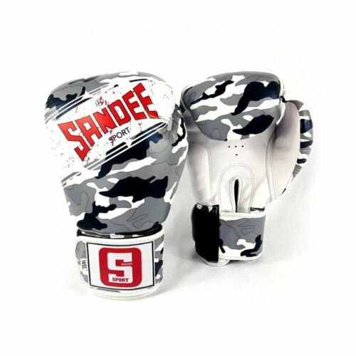 Sandee Sport Muay Thai Boxing Gloves Camo Kick Sparring Mitts Bag Gloves K1
