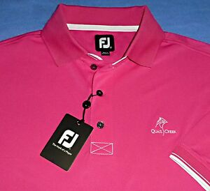 new l footjoy pink polo oklahoma city quail creek country. Black Bedroom Furniture Sets. Home Design Ideas