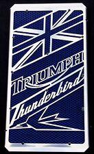 """cache / Grille de radiateur Triumph Thunderbird """"Union Jack"""" + grillage bleu"""