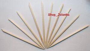 10x-Holzstaebchen-orange-wood-sticks-Nagelhaut-remover-11-5-cm