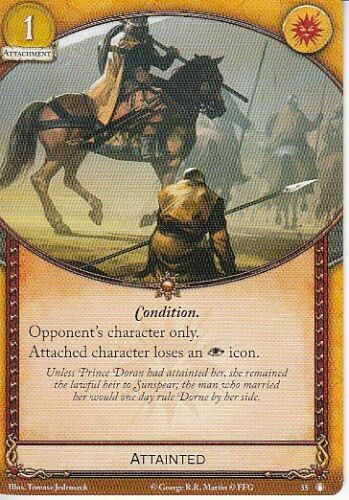 Attainted AGoT LCG 2.0 Game of Thrones The King/'s Peace 55
