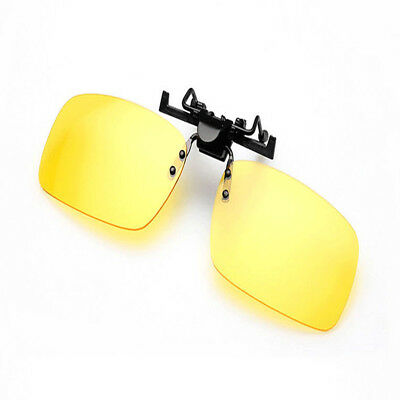 Unisex Polarized Day Night Vision Flip-up Clip-on Lens Driving Glasses Sunglass