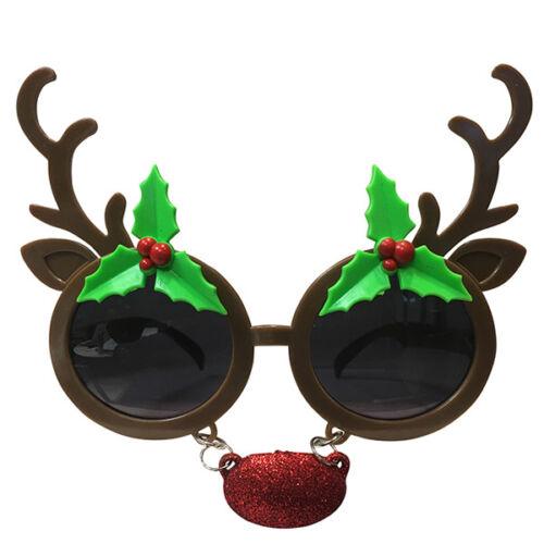 Rudolph Nez rouge Renne Noël Lunettes Déguisement Père Noël Secret