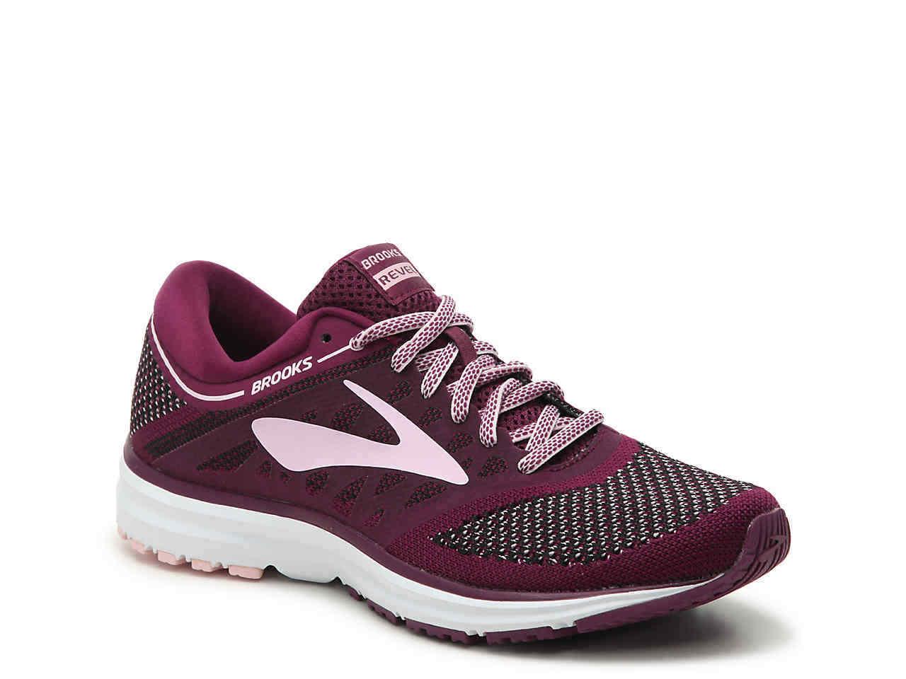 7363cb741296b Details about Brooks Women s Revel 120249-1B-598 Plum Pink Black Running  Sneakers