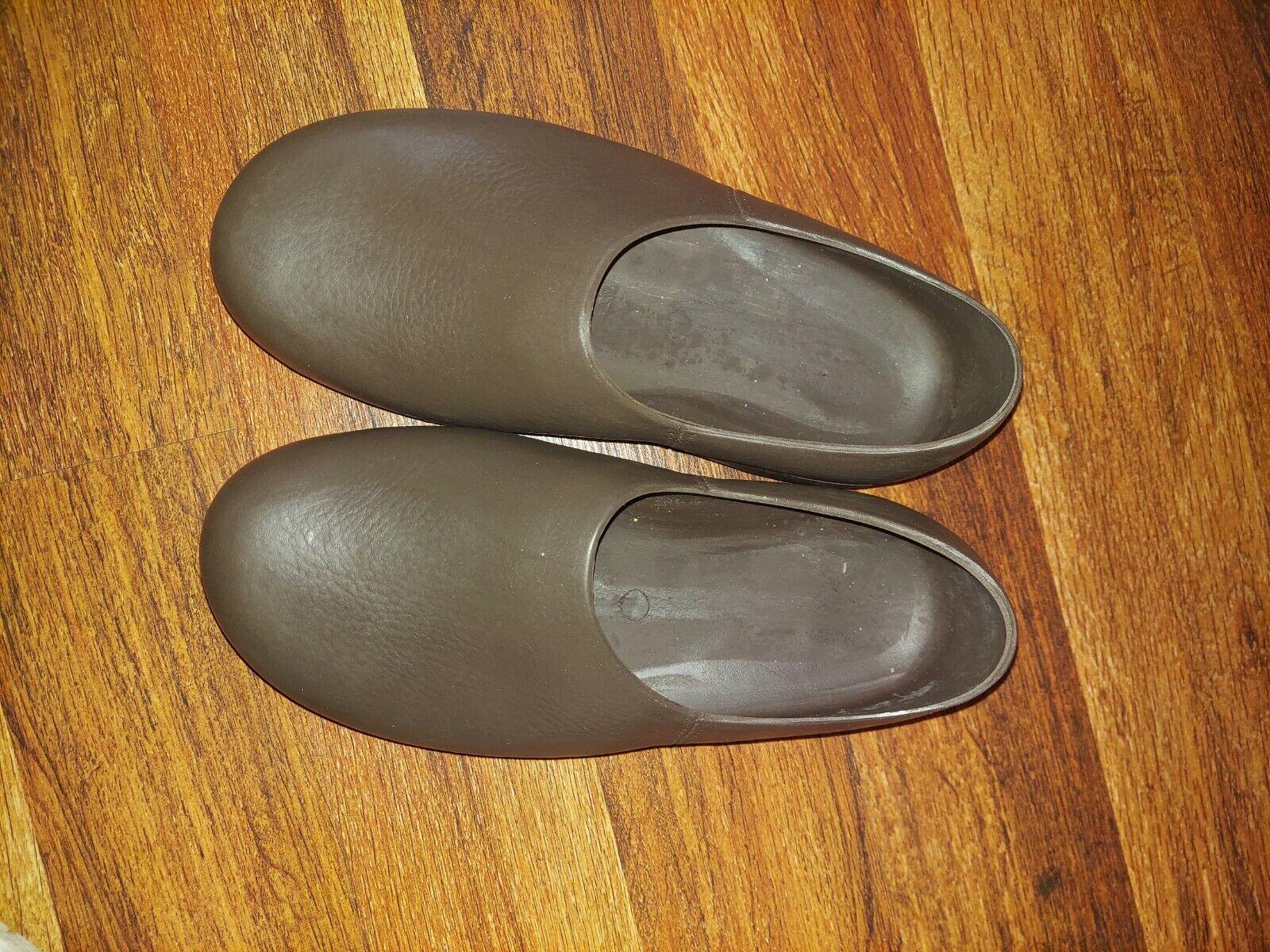 ANA TECH Womens size 39 Walk The Walk Pro Body Brown Polyurethane Shoes Clogs