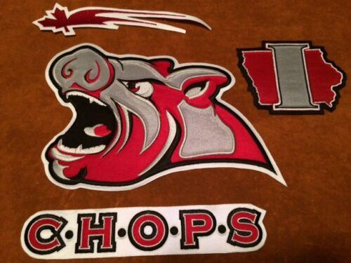 approx. 16.51 cm Iowa chuletas de cerdo Cabeza Hockey Cosido Crest Parche 10.5 por 6.5 in cabeza cerdos cerdo
