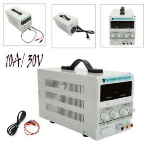 30V-10A-110V-DC-Power-Supply-Precision-Variable-Digital-Adjustable-Clip-Cable-US