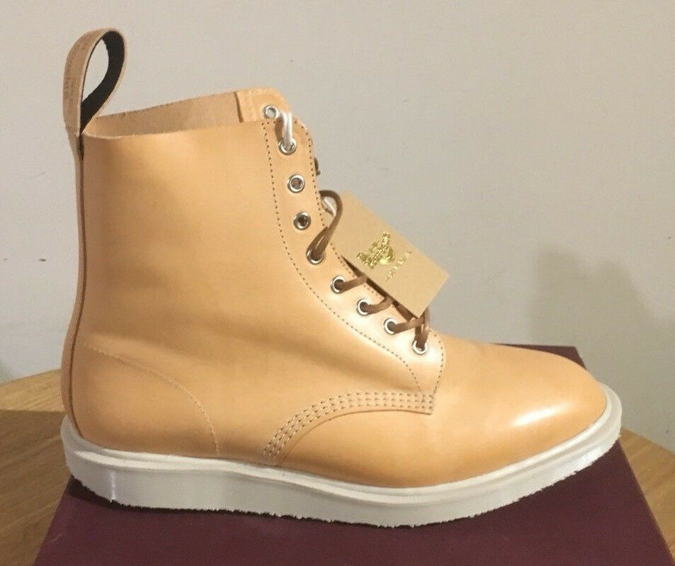 DR. MARTENS WHITON BUTTERSCOTCH TUCSON  LEATHER  BOOTS SIZE UK 6.5