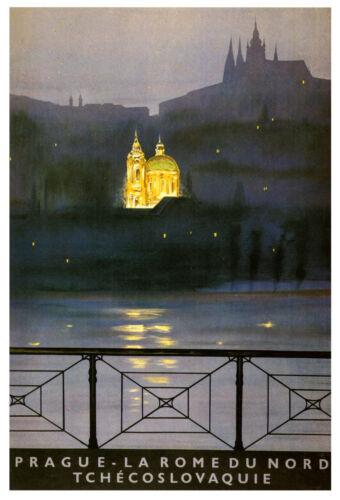 Vintage  PRAGUE TCHECOSLOVAQUIE ...Travel Poster   A1,A2,A3,A4 Sizes