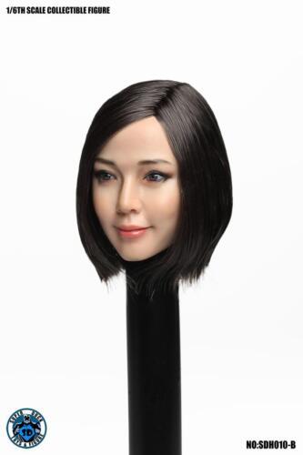 """Super Pato 1//6 Asian Beleza Menina Cabeça Escultura SDH010B Fit 12/"""" corpo de Boneco de pH"""