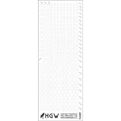 HGW 1//48 Oval Templates Positive Rivets #482016