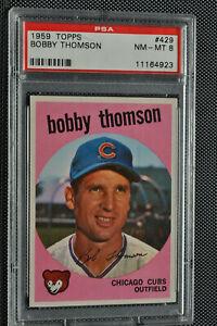 1959-Topps-Bobby-Thomson-429-PSA-8-NM-MT