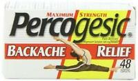 Percogesic Backache Relief, Maximum Strength, 48-count Bottles
