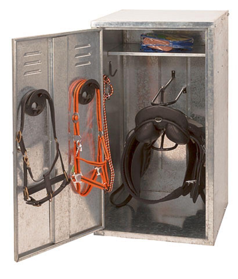 Sillín armario establo Saddle Cabinet 2 silletas 60x60x106 soporte sillín sillín Kerbl