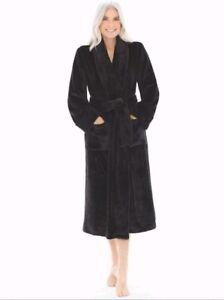 SOMA INTIMATES Luxurious Plush Long Robe Women s Size XXL Black NEW ... e6e9af3a2