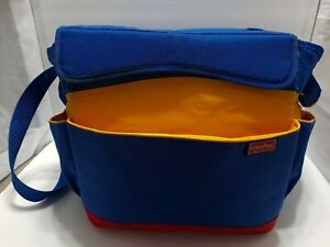 FISHER PRICE Diaper Bag/ Tote/Cooler Bag Blue/Yellow Vintage Large 80s 90s GUC