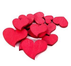 Streumaterial Herzen rot Holz 70gr.gemischt 1,2-3,4cm Streudeko ...