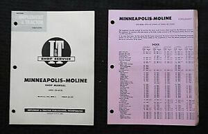 1955 MINNEAPOLIS MOLINE SERIES GB UB ZB GTB GTC UT TRACTOR I & T REPAIR MANUAL