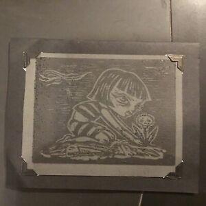 """ELIZABETH """"LIZ"""" MCGRATH Set of 4 Pins HANDMADE SIGNED Card"""