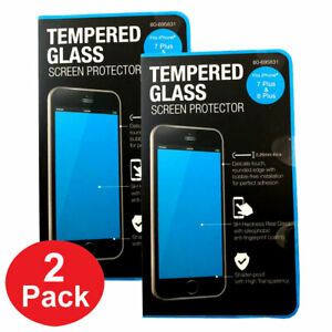 9H Tempered Glass Protective Film For Apple iPhone 7 8 Plus Screen Protector 2PK