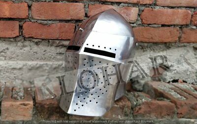 2 5MM Medieval Steel Historical Griffin Helmet for Hard