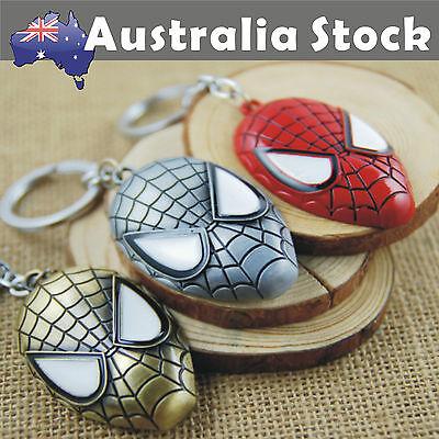Spiderman SuperHero Metal keyring Keychain Key Ring Super Hero Spider-Man