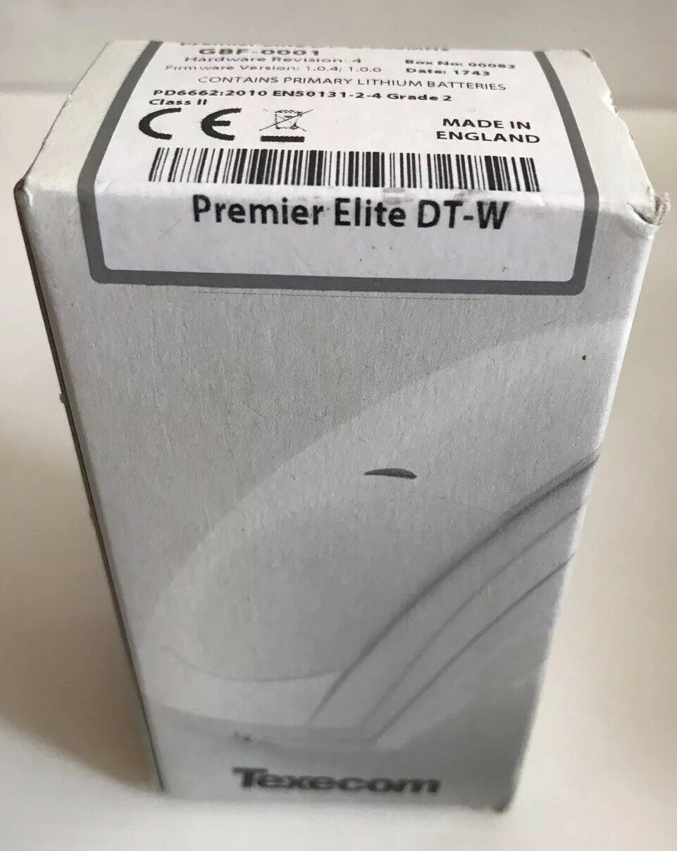 Texecom Premier Elite Wireless Sensor PIR alarma de seguridad de doble Tech GBF-0001