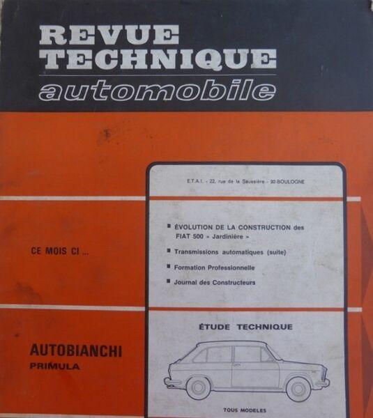 Autobianchi Primula Revue Technique Rta N° 257 1967 + Fiat 500 Jardiniere Speciale Kopen